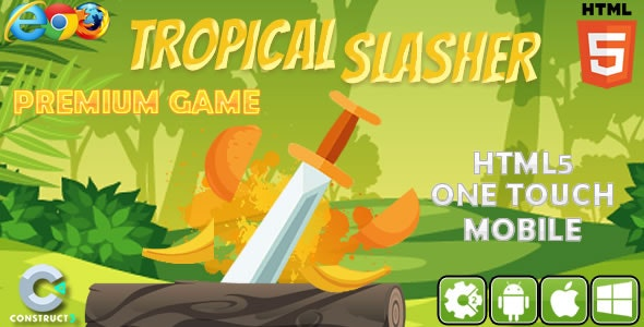 Tropical Slasher - HTML5 Game (CAPX) - CodeCanyon Item for Sale