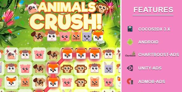 Animal Crush Match Three - CodeCanyon Item for Sale