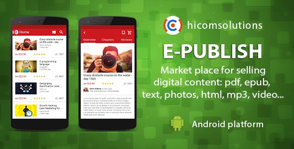 ePublish: marketplace for digital - Android