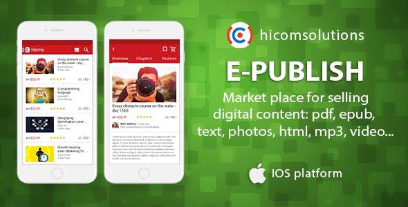 ePublish: marketplace for digital - iOS - CodeCanyon Item for Sale