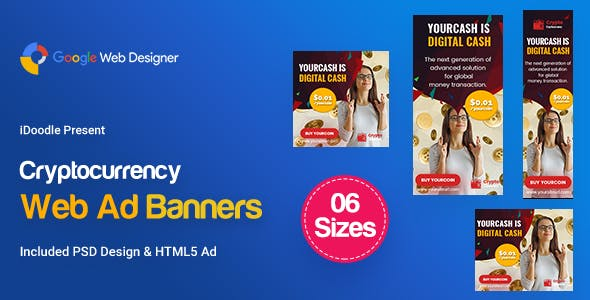 C79 - Cryptocurrency Banners HTML5 Ad (GWD & PSD)
