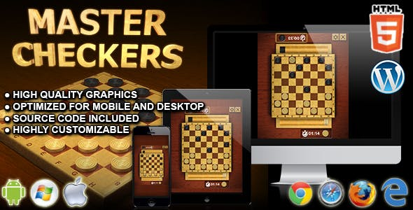 Master Checkers - HTML5 Board Game