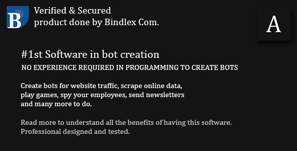 AutoBuilder Standard | Build Awesome Bots by Bindlex