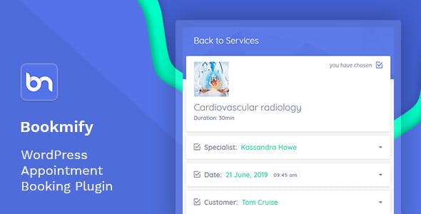 Bookmify - Appointment Booking WordPress Plugin - CodeCanyon Item for Sale