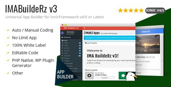 IMABuildeRz v3 - Universal AppBuilder for Ionic v4