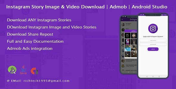 Insta Story Photo & Video download with FullScreen Profile Pic | Admob