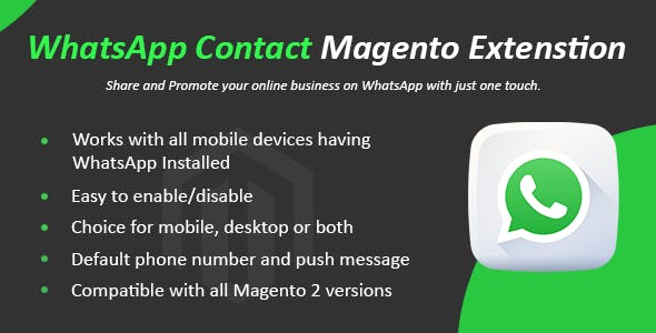 WhatsApp Contact Magento 2 Extension - CodeCanyon Item for Sale