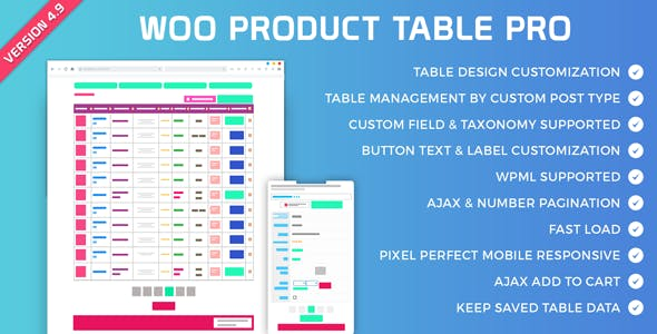 Woo Product Table Pro - Making Quick Order Table - CodeCanyon Item for Sale