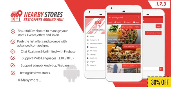 NearbyStores - Offers, Events & Chat Realtime + Firebase 1.7