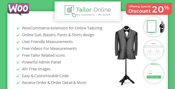 Tailor Online - WooCommerce Plugin for Online Custom Tailoring by