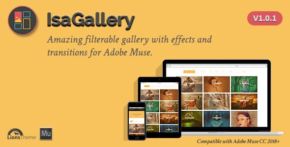 IsaGallery - Filterable Image Gallery for Adobe Muse  by