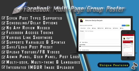 Facebook Multi-Page/Group Poster - CodeCanyon Item for Sale