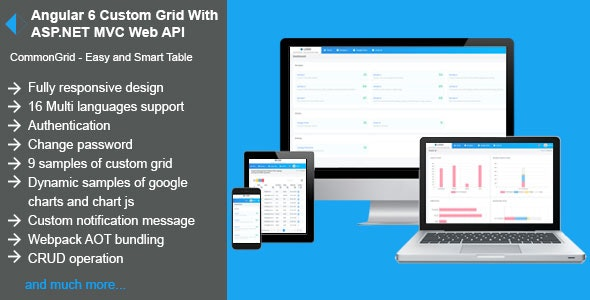 Angular 6 Custom Grid With Asp Net Mvc Web Api By Bhplugin Codecanyon