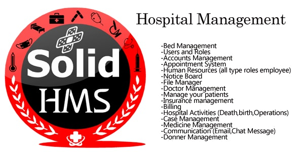 SOLID HMS (Hospital Management System) Open Source dot net core mvc | C# - CodeCanyon Item for Sale