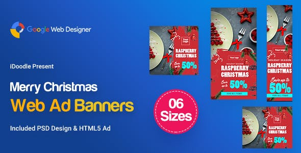 L02-Merry Christmas Banners HTML5 (GWD & PSD)