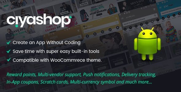 CiyaShop Native Android Application based on WooCommerce