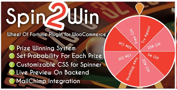 Spider Spin2Win WooCommerce Coupon Code - CodeCanyon Item for Sale