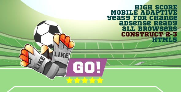 Football champion - HTML5, Construct 2/3, Mobile adapt, AdSense