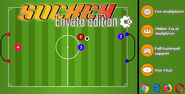 Sockey - HTML5 Soccer Multiplayer Online/Local Game