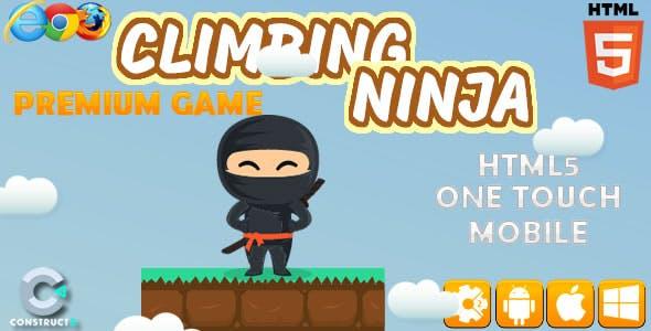 Climbing Ninja - HTML5 Game (Construct 2)(Construct 3)