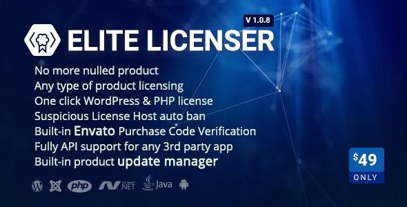 Elite Licenser- Software License Manager for WordPress - CodeCanyon Item for Sale