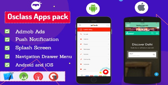 Osclass Android and iOS App Pack - CodeCanyon Item for Sale