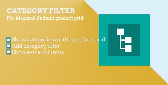 Magento 2 Category filter for admin product grid - CodeCanyon Item for Sale