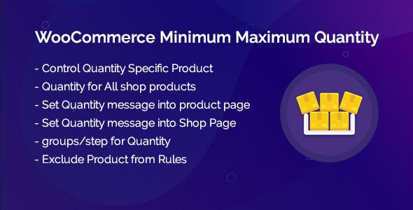 WooCommerce Minimum Maximum Quantity