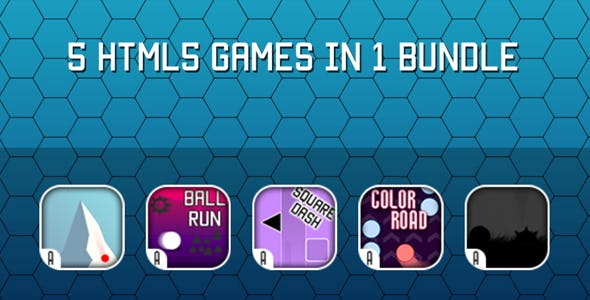 Games Bundle - 5 HTML5 Games (CAPX)