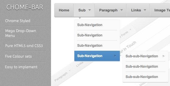 Chrome-Bar Mega Navigation System  - CodeCanyon Item for Sale