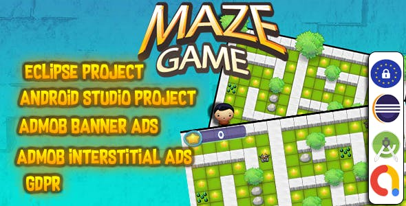 Maze Game With ADMOB - Easy to reskin