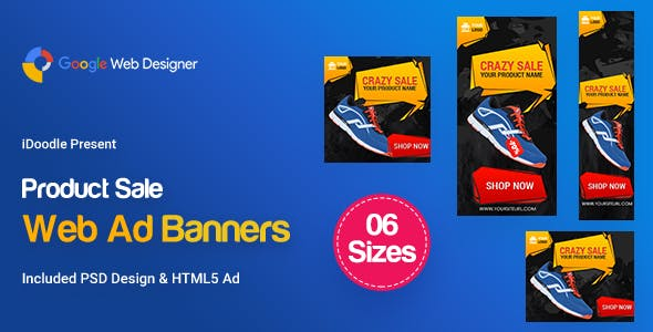 C90 - Product Sale Banners HTML5 (GWD & PSD)