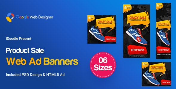 C90 - Product Sale Banners HTML5 (GWD & PSD) - CodeCanyon Item for Sale