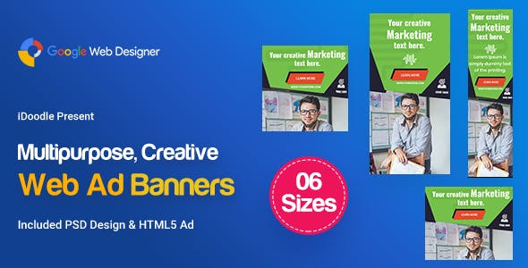 C91 - Multipurpose, Business Banners HTML5 (GWD & PSD)