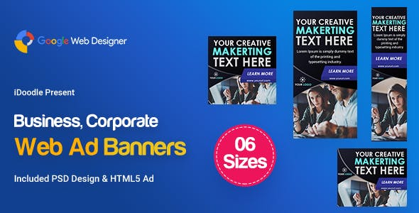 C92 - Business Banners HTML5  (GWD & PSD)
