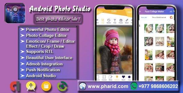 Android Photo Studio - Photo Collage, Editor, Stickers, Frame, Effect, Crop - CodeCanyon Item for Sale
