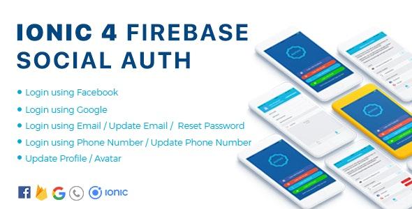 Authy - Ionic 4 Firebase Auth Full App / Phone Auth / Google