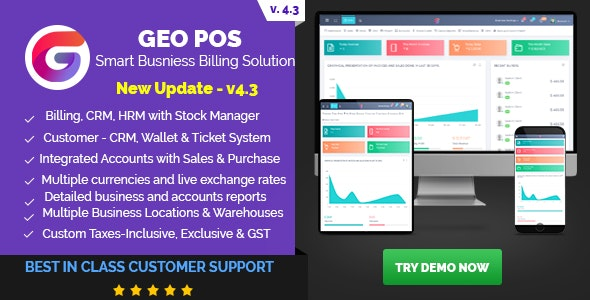 Geo POS - Point of Sale, Billing and Stock Manager Application by
