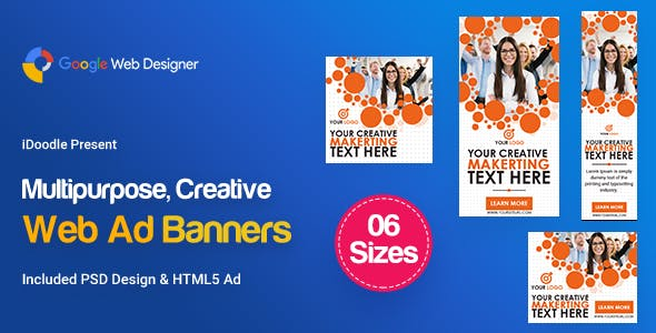 C105 - Multipurpose, Business Banners HTML5 ( GWD & PSD)