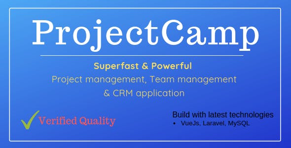 ProjectCamp - Powerful Project Management web application