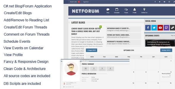 NetForum C#.Net Forum & Blog Application - CodeCanyon Item for Sale