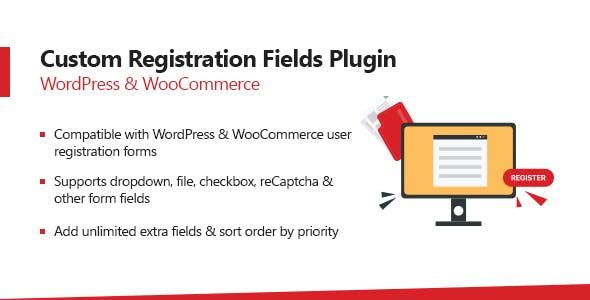WooCommerce Custom Registration Fields Plugin