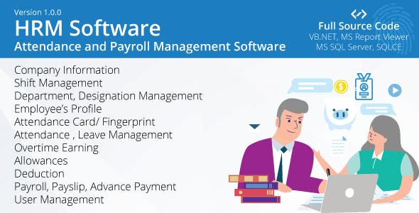 Employee Attendance and Payroll System (HRM Software)