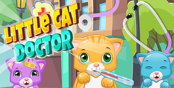 Little Cat Doctor:Pet Vet Game - Unity Project with Admob