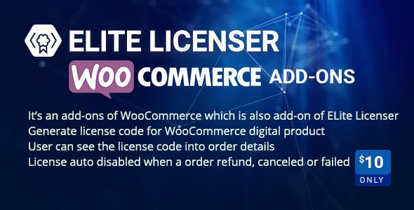WooCommerce Product Licenser- Elite Licenser Pro Addon