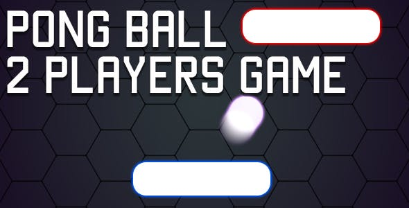 Pong Ball - 2 Players HTML5 Game (CAPX)