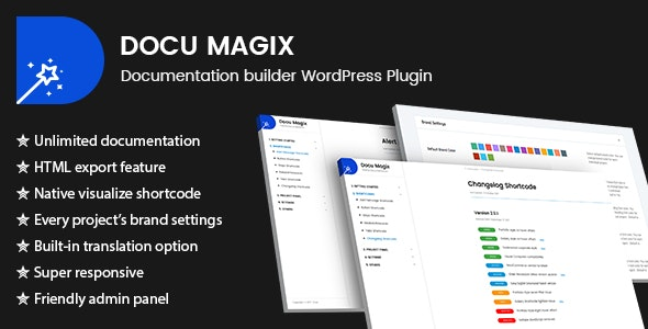 Docu Magix: Documentation Builder WordPress Plugin - CodeCanyon Item for Sale