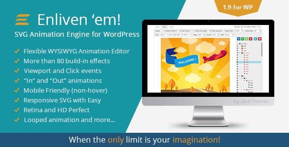 Enliven 'em! - SVG Animation Engine for WordPress by