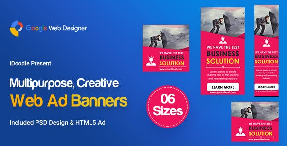 C108 - Multipurpose, Business Banners HTML5 ( GWD & PSD)