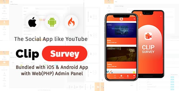 Clip Survey - Social App like Vimeo Video Review
